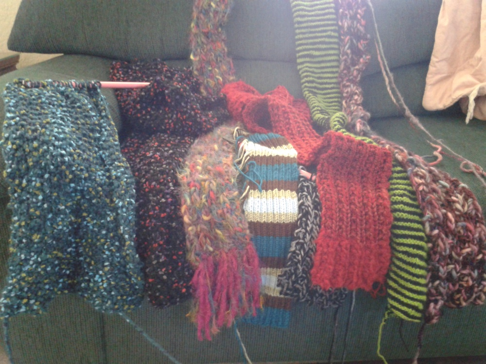 Summer's knitting, inside and out (1/2)